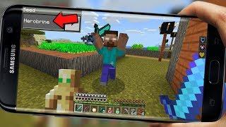 HEROBRİNE İLE KAPIŞTIM!! KESİNLİKLE BU SEEDE GİRMEYİN (Minecraft PE Seed)