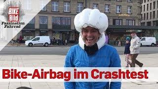 Pieritz & Müller unterwegs: Crashtest mit dem Fahrradairbag