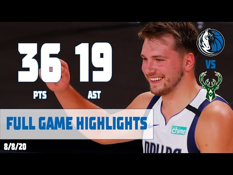 Luka Doncic (36-14-19 🤯) Highlights vs  Milwaukee Bucks