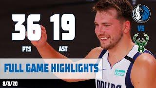 Luka Doncic (36-14-19 🤯) Highlights Vs  Milwaukee Bucks