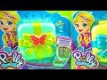 Opening Polly Pocket Hidden Hideouts. Polly Pocket Flutterrific Forest, Polly Pocket Unicorn Utopia