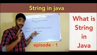 What is string and  how to represent string in java  || java string api || Episode - 1
