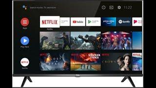 TV TCL 40S615 Android TV Erstinbetriebnahme WLan verbinden Programme ordnen-HDR FHD SMART