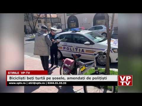 Bicicliști beți turtă pe șosele, amendați de polițiști