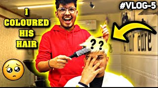 JASH Coloured Ritik Hair || Black To White Gold Colour Crying Reaction 🥺 || Two Side Gamers Vlog 5