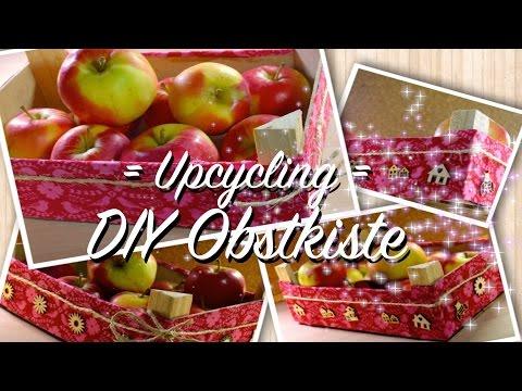 DIY Obstkorb Obstkiste - Upcycling Mandarinenkiste - Shabby Chic - aus alt wird neu - individuell