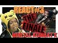 THE FINALE - MOTAL KOMBAT X FATALITIES REACT VIDEO #3