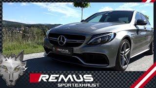 Video: Remus Sportauspuffanlage am Mercedes W205 C63 AMG