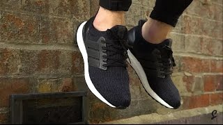 25300d7a09e good adidas ultra boost 3.0 core black on feet becb5 bc756