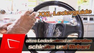 Altes Lederlenkrad aufbereiten - Lenkrad schwarz färben - Anleitung Colourlock Lederreparatur Set #7