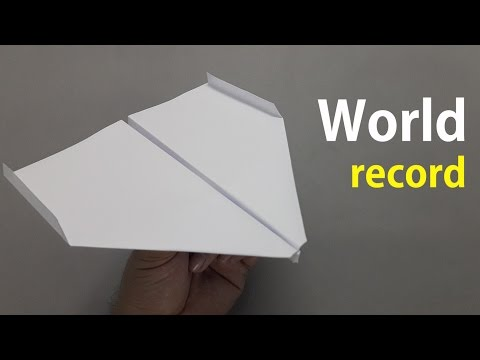 How to fold the world record paper airplane