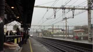 preview picture of video 'TGV Passing through Gare de Libourne'