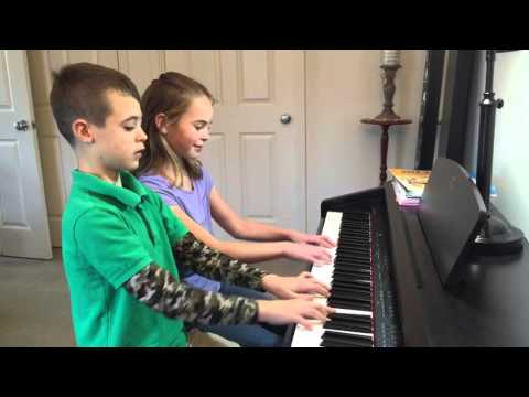 Home Lesson in Action!  Mastering recital pieces! Virginia 2016