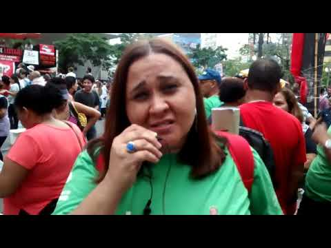 Servidora convoca os trabalhadores para a greve