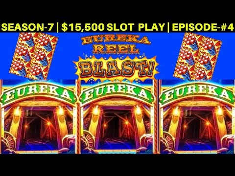 EUREKA Reel Blast Lock It Link Slot Machine Max Bet Bonuses | SEASON-7 | EPISODE #4