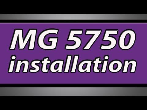 Canon Pixma MG5750 printer installation