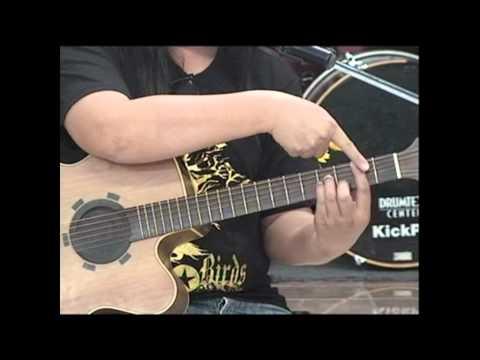 Guitar Chord A,Bm,C#m,D,E,F#m / การจับคอร์ดในคีย์ A