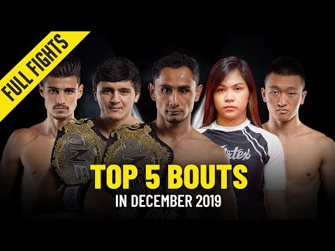 Top 5 Bouts in December 2019   ONE Full Fights