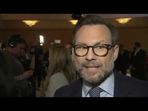 "Christian Slater is pleased for his nominated friends, DanaiGurira gets to celebrate for ""Black Panther"" and #LeslieMann thinks Rami Malek is award-worthy – as stars react to Thursday's Golden Globe nominations. (Dec. 6)"