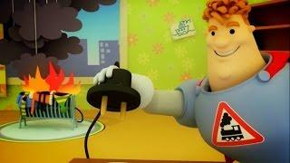 Аркадий Паровозов спешит на помощь - Почему лить воду на электрические приборы - мультики детям