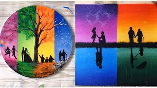 5 Easy Four Season Painting Ideas For Beginners - Art For Home Decor
