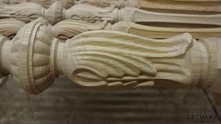 Видео - Резной столб из дерева st-Florence-B