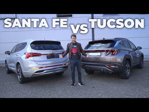New Hyundai Santa Fe Hybrid vs Hyundai Tucson Hybrid Review 2022