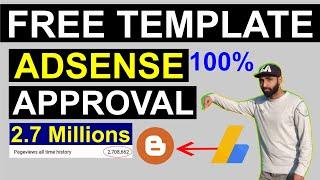 Blogger Template For AdSense Approval (27.8 Lakh Ka Traffic) - SEO Friendly Blogger Template Free