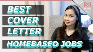 Best Cover Letters For Home Based Jobs