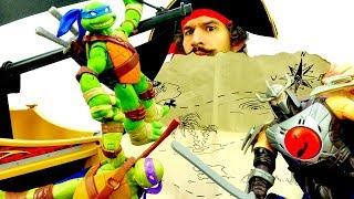 Черепашки Ниндзя и сокровища пиратов! Игры для мальчиков.