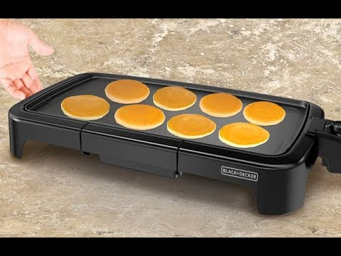 , BLACK+DECKER Family-Sized Electric Griddle with Warming Tray & Drip Tray, GD2051B