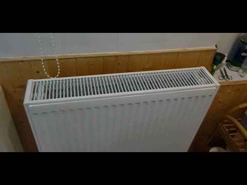 How to change an old cast iron radiator for a new one the same size. Double your heat .