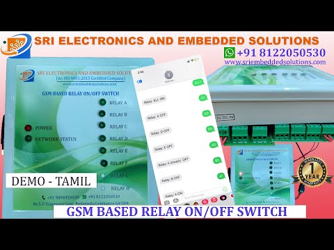 Gsm Based Relay On/Off Switch 1 Channel To 4 Channel