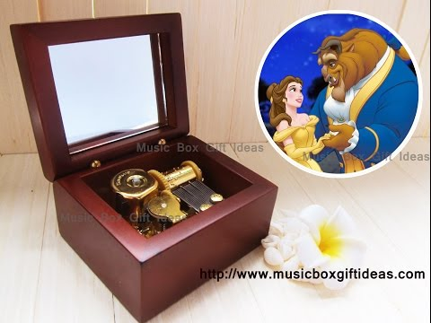 Disney Beauty and the Beast Wooden Sankyo Windup Music Box Belle Gift Musical