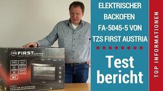 """ᐅ Unboxing-Video des 60-l-Mini-Backofens """"FA-5045-5"""" mit Kochfeldern von TZS First Austria ☑"""