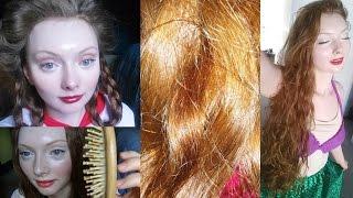 ASMR Long Red Hair Play-Brushing, Bun Drops