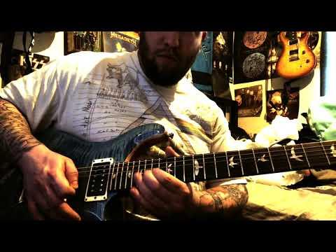 playing a PRS custom 24 Floyd in a bluesy style