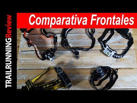 Comparativa Frontales Trail Running