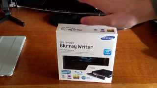 Samsung Slim Portable Blu-Ray Writer SE506 Unboxing