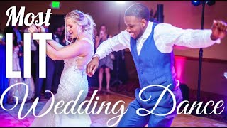 THE MOST LIT INTERRACIAL WEDDING DANCE | Best First Dance | Cultural Dance | Bridal Party Swag Surf