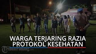 Puluhan Warga Terjaring Razia Protokol Kesehatan, Diamankan ke Polresta Padang
