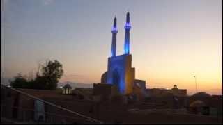 Abendstimmung bei der Freitagsmoschee, Yazd (Iran), 28.07.2015