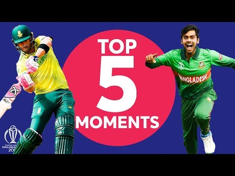 Mehidy? Du Plessis? | South Africa vs Bangladesh - Top 5