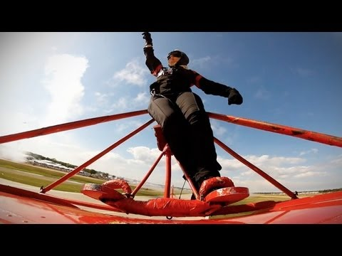 Ride Along With A Wing Walker And Be Extra Thankful For Your Safe, Safe Job