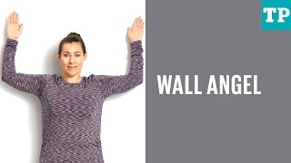 Postpartum exercise: Wall angel