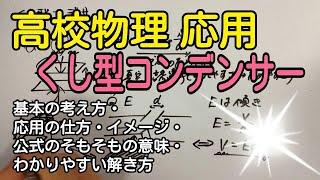 高校物理応用くし形コンデンサの解き方が18分でわかる動画!