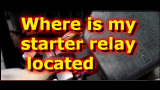 Where is the starter relay located on A Hyundai Accent