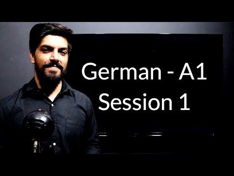 Learn German for Beginners - German A1 - Session 1 - Introduction to German