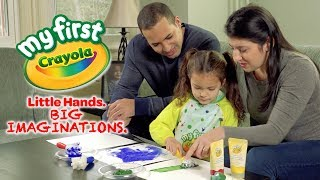 My First Crayola featuring Look models Hilary Russo, Daniel Contreras, Natalie Dressell, Marcelle Fe