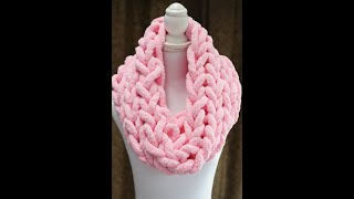 HOW TO HAND KNIT A CHUNKY SCARF. COWL SCARF